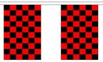BLACK AND RED CHECKERED BUNTING - 9 METRES 30 FLAGS
